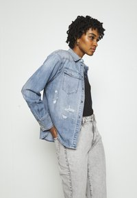 G-Star - WESTERN RELAXED  - Button-down blouse - destroyed denim - 4