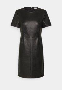 Vila - VIJAFFI COATED DRESS - Kjole - black - 0