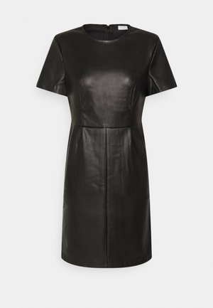 VIJAFFI COATED DRESS - Day dress - black