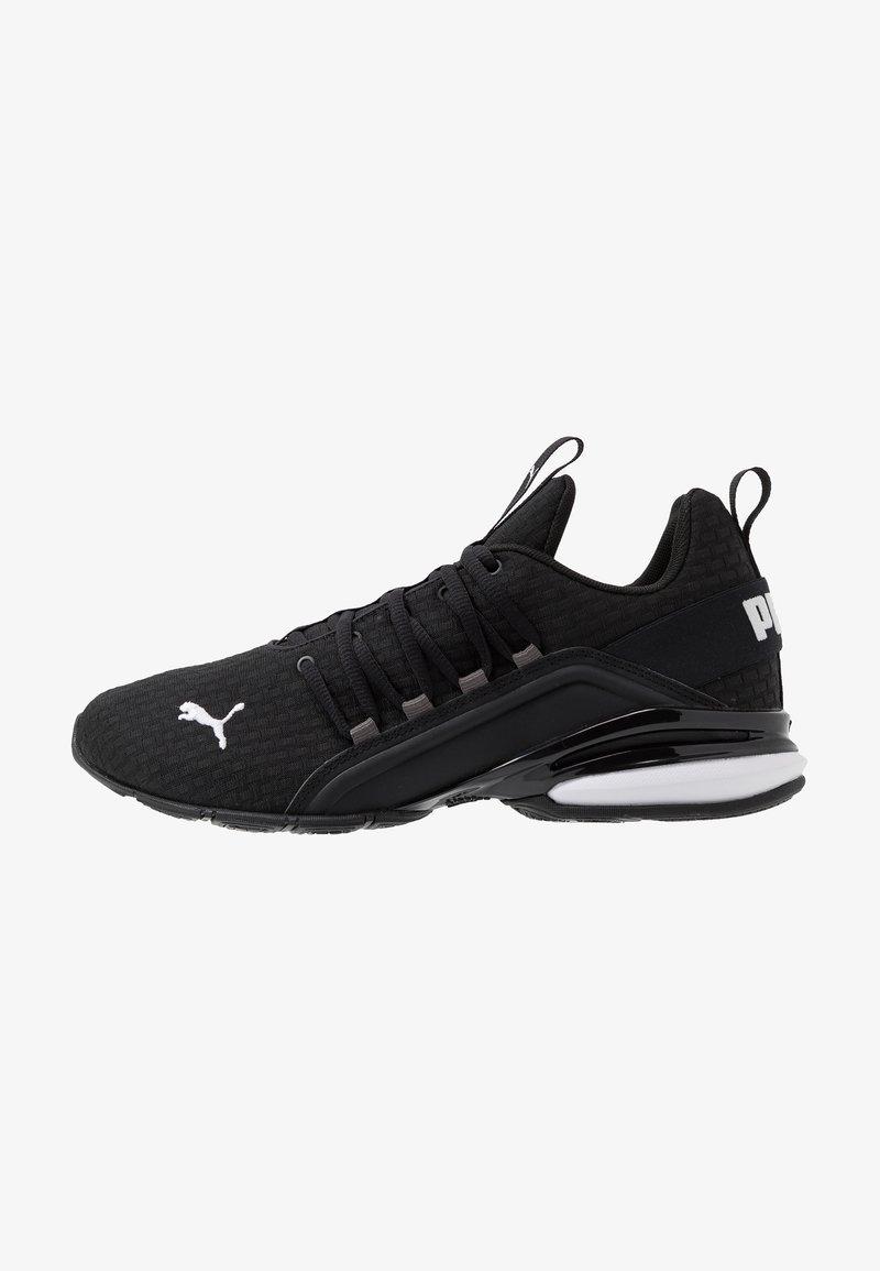 Puma - AXELION BLOCK - Sports shoes - black/white