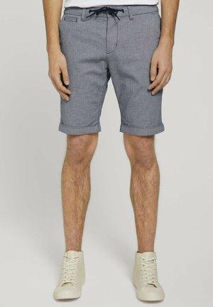 Shorts - navy white dobby yarn dye