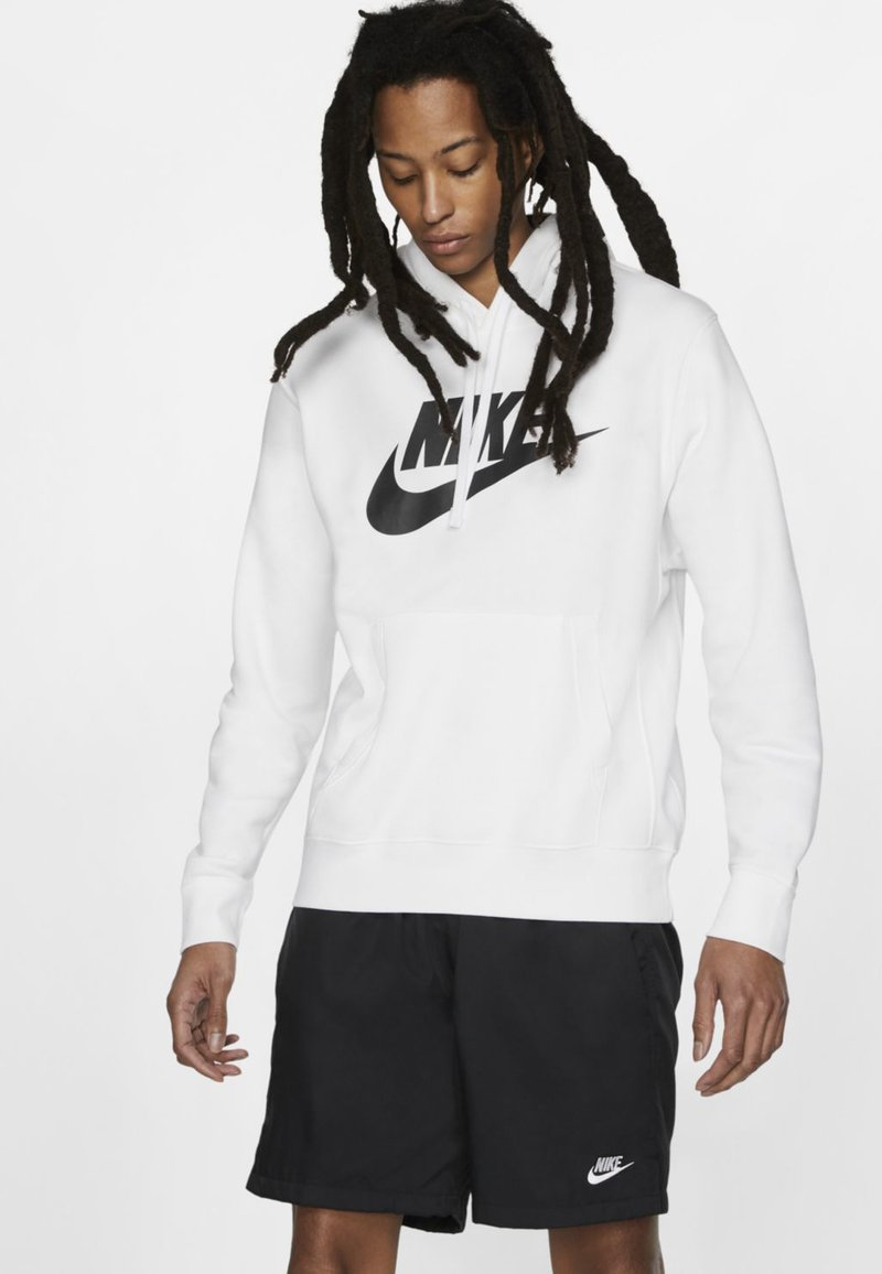 Nike Sportswear - CLUB HOODIE - Luvtröja - white