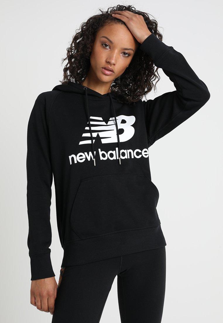 New Balance - ESSENTIALS HOODIE - Bluza z kapturem - black