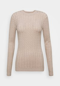 Anna Field - POINTELLE JUMPER - Neule - light tan melange - 3