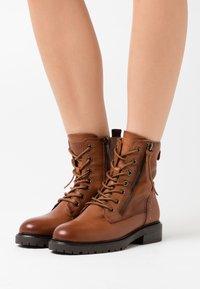 Carmela - LADIES  - Cowboy/biker ankle boot - camel - 0