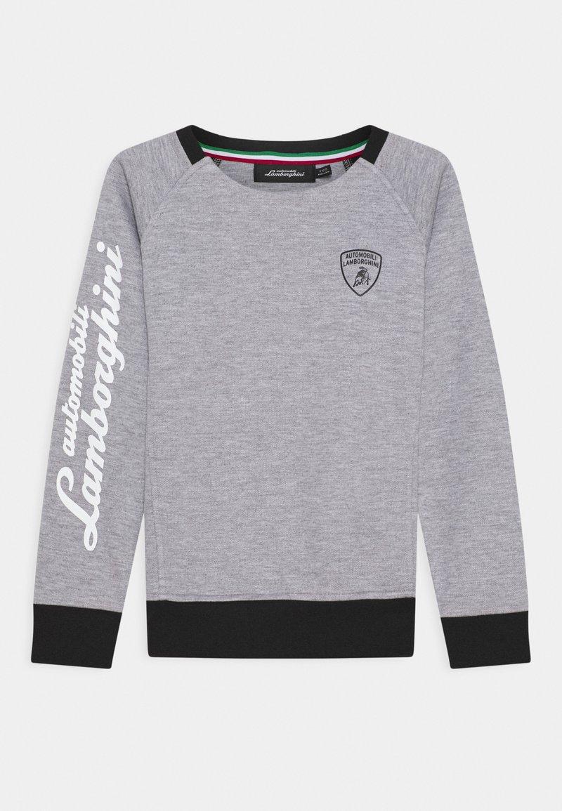 Automobili Lamborghini Kidswear - CREWNECK WITH CONTRAST INSERTS - Sweatshirt - grey antares