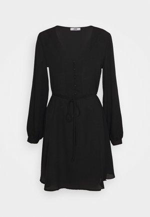 JDYHERMINE SHORT BUTTON DRESS  - Vestito estivo - black