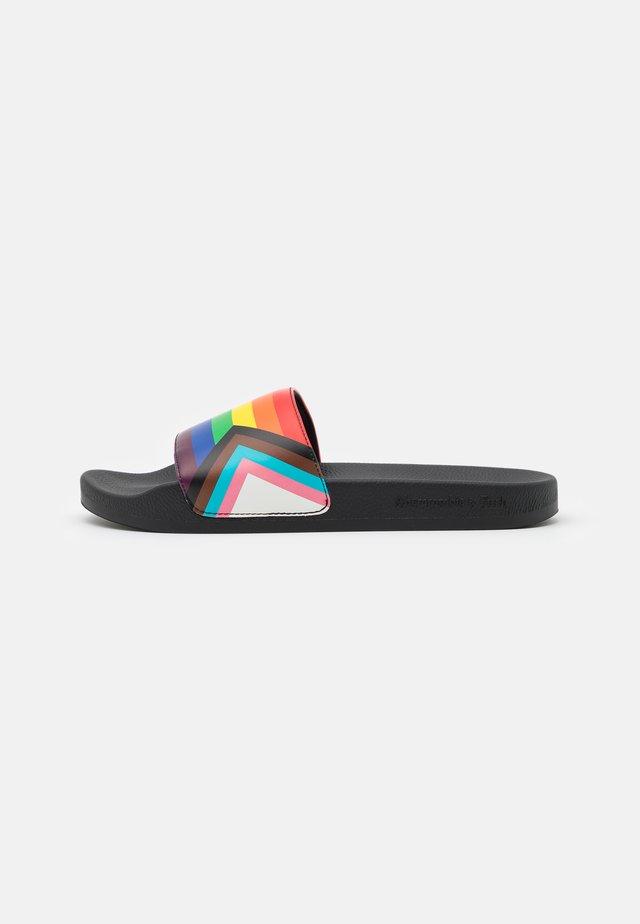 RUBBER SLIDE - Sandalias planas - rainbow pride