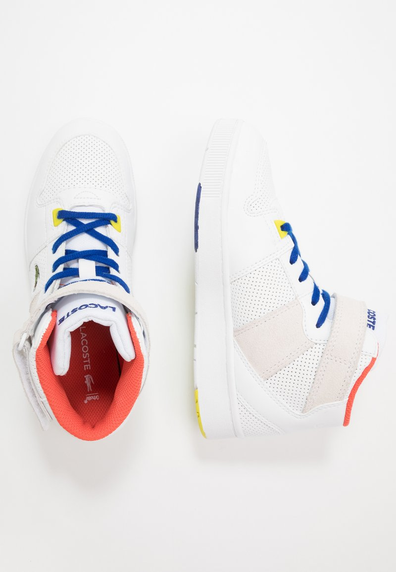 Lacoste - TRAMLINE MID - High-top trainers - white/yellow
