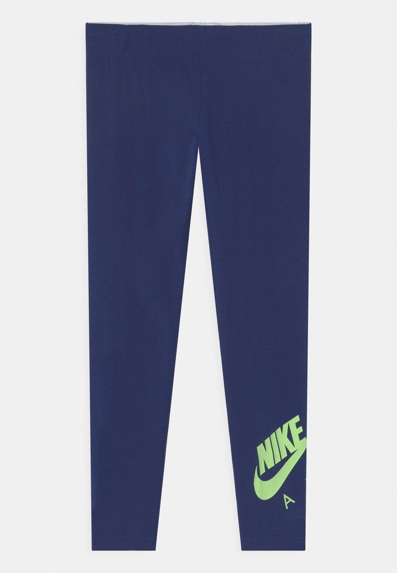 Nike Sportswear - FAVORITES - Legging - blue void/lime glow