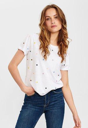 NUCRUZ  - Print T-shirt - bright white