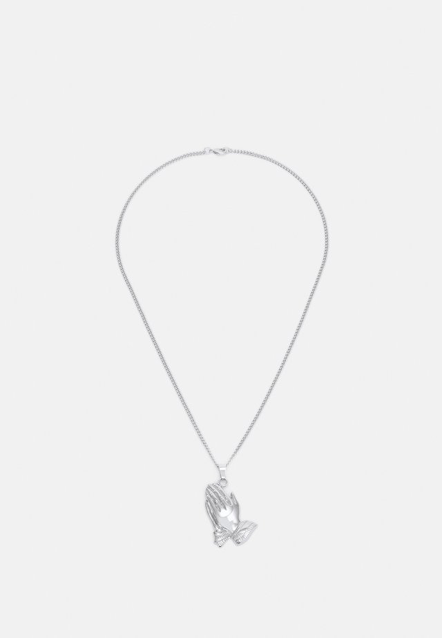 PRAY HANDS NECKLACE - Necklace - silver-coloured