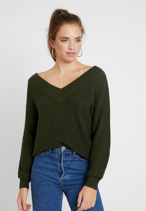 ONLMELTON - Strickpullover - forest night