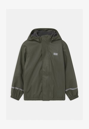 JIPE UNISEX - Waterproof jacket - dark green