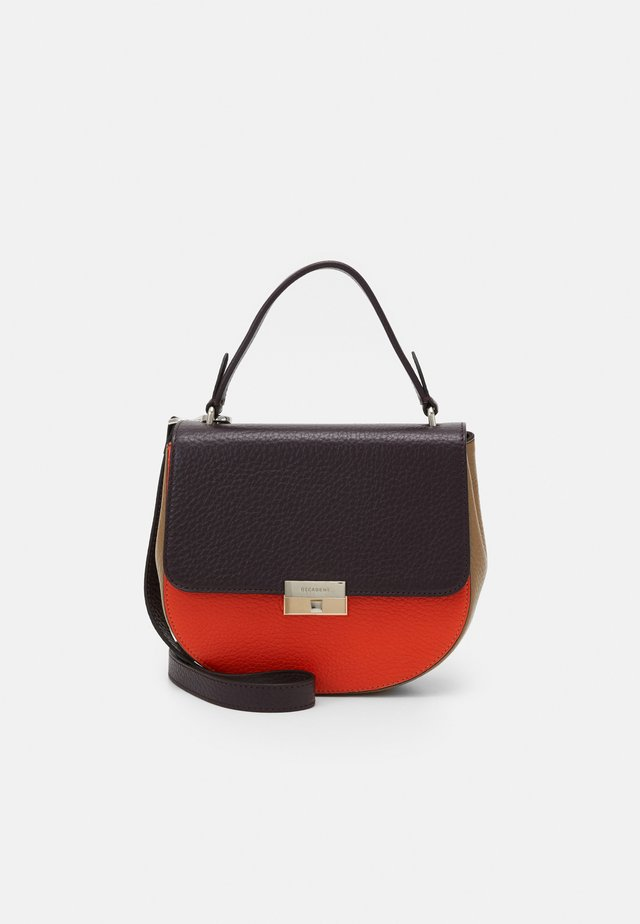 JUNE SMALL TOP HANDLE - Sac bandoulière - plum/tomato/sand