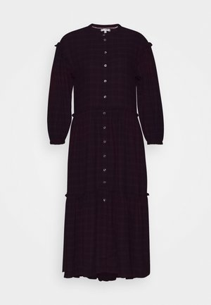 BEA TARTAN DRESS  - Day dress - bordeaux
