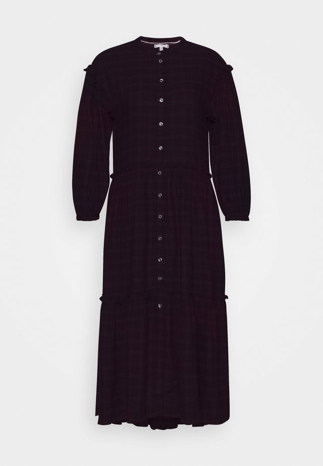 BEA TARTAN DRESS  - Day dress - bordeaux