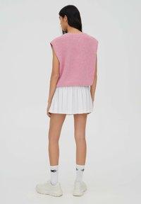 PULL&BEAR - Spódnica trapezowa - white - 2