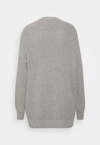 Hollister Co. - LONG LENGTH SHAKER - Cardigan - light grey - 1