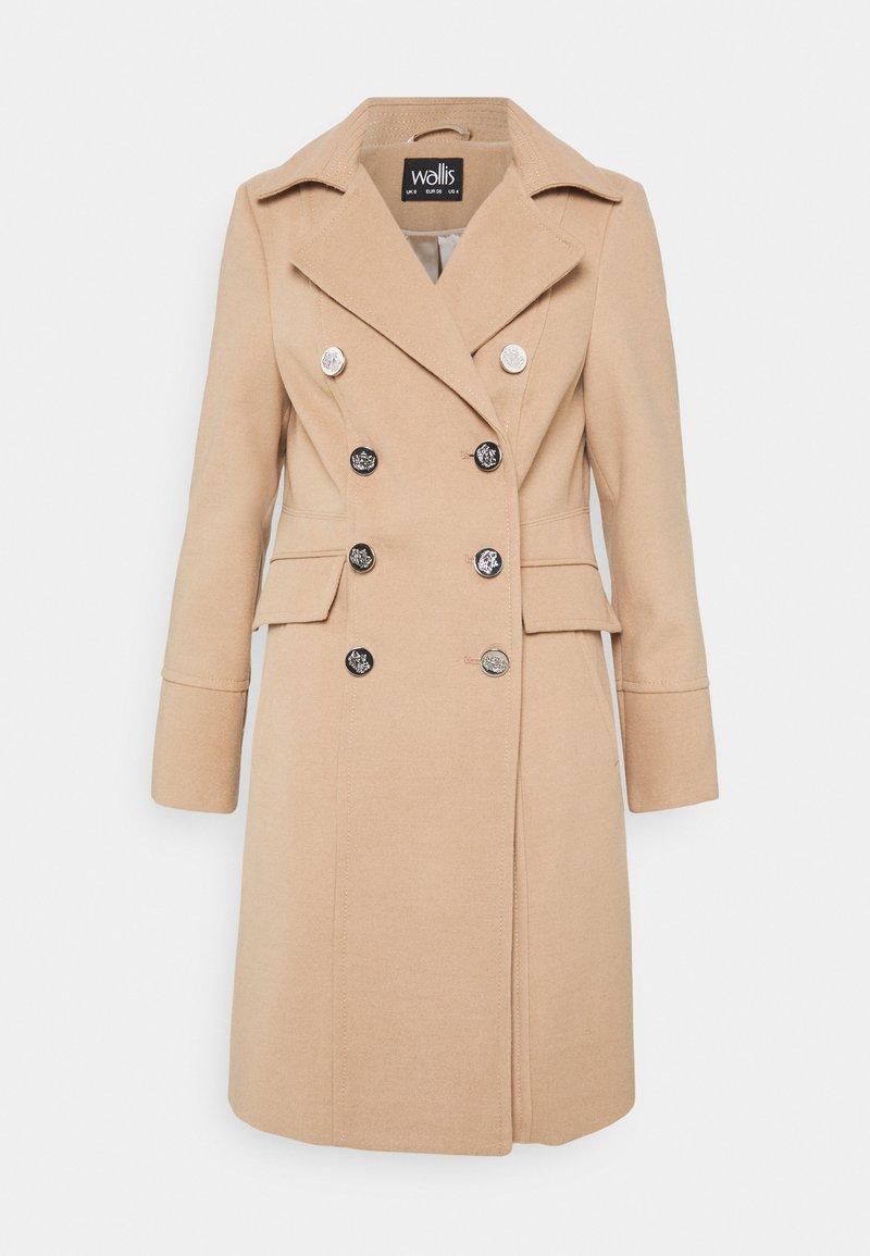 Wallis - LONGLINE REVERE - Classic coat - stone