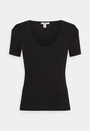POINTELLE - T-shirt print - black
