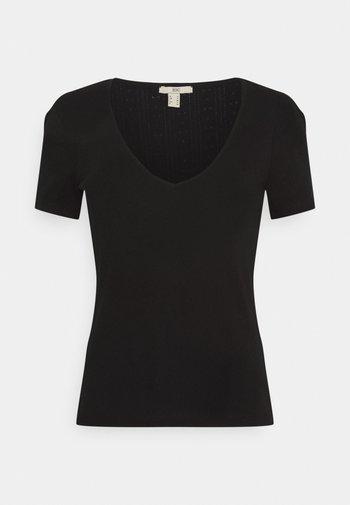 POINTELLE - Print T-shirt - black