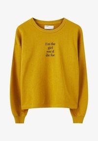 PULL&BEAR - BASIC-SWEATSHIRT MIT FARBLICH ABGESETZTEM SLOGAN 05596300 - Bluza - yellow - 5