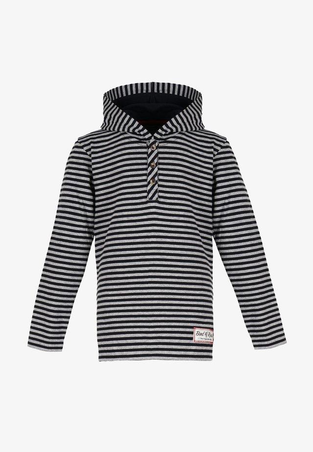 Long sleeved top - black-grey
