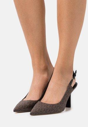 CLEO SLING - Klassiske pumps - brown/black
