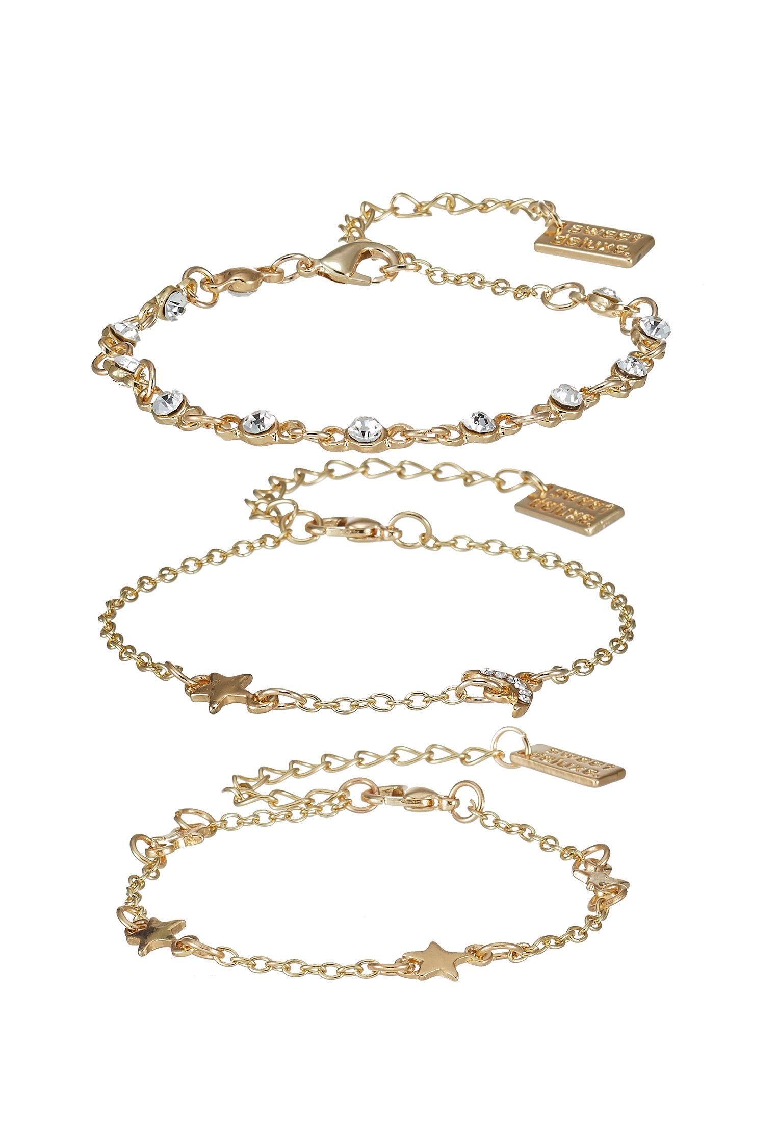 sweet deluxe 3 PACK - Armbånd - gold-coloured/gull VNUgkIWJR7IO4w0