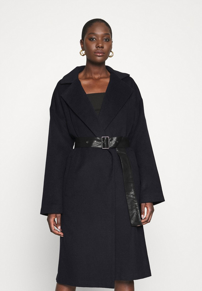 Who What Wear - BELTED COAT - Classic coat - navy