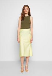 NA-KD - SKIRT - A-line skirt - yellow - 0