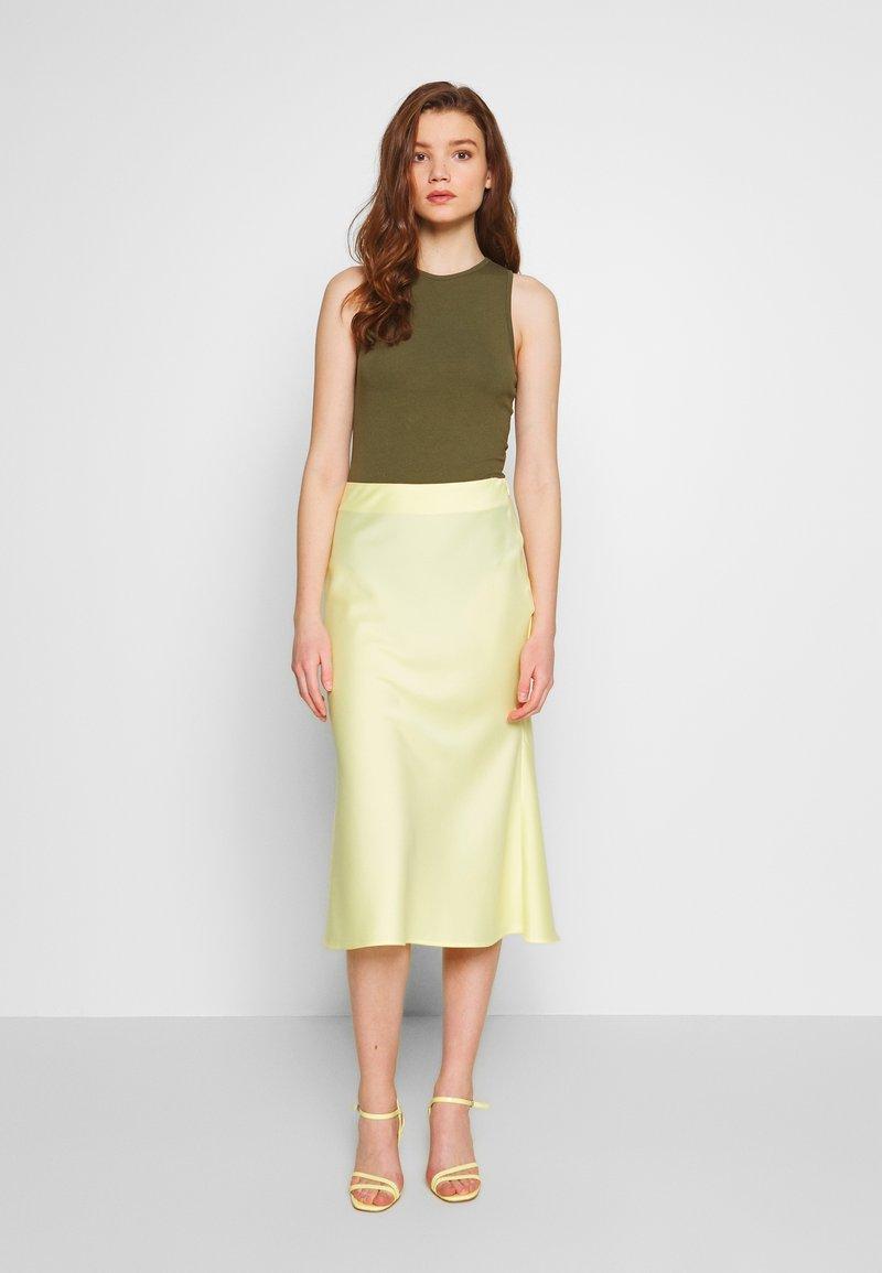 NA-KD - SKIRT - A-line skirt - yellow