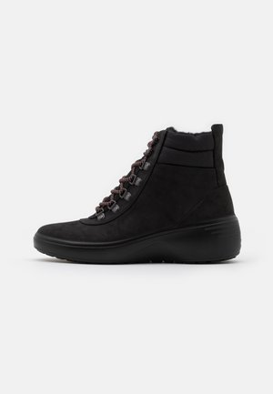 SOFT WEDGE TRED - Ankle boots - black