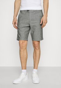 Selected Homme - SLHMILES FLEX - Shorts - black/mixed with egret - 0
