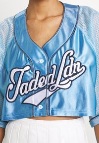 Jaded London - CROPPED BASEBALL SHIRT - Blouse - blue - 5
