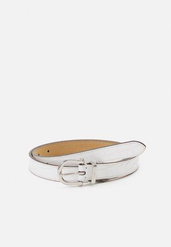 EMBOSSED - Belt - white