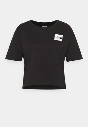 CROPPED FINE TEE - Camiseta estampada - black