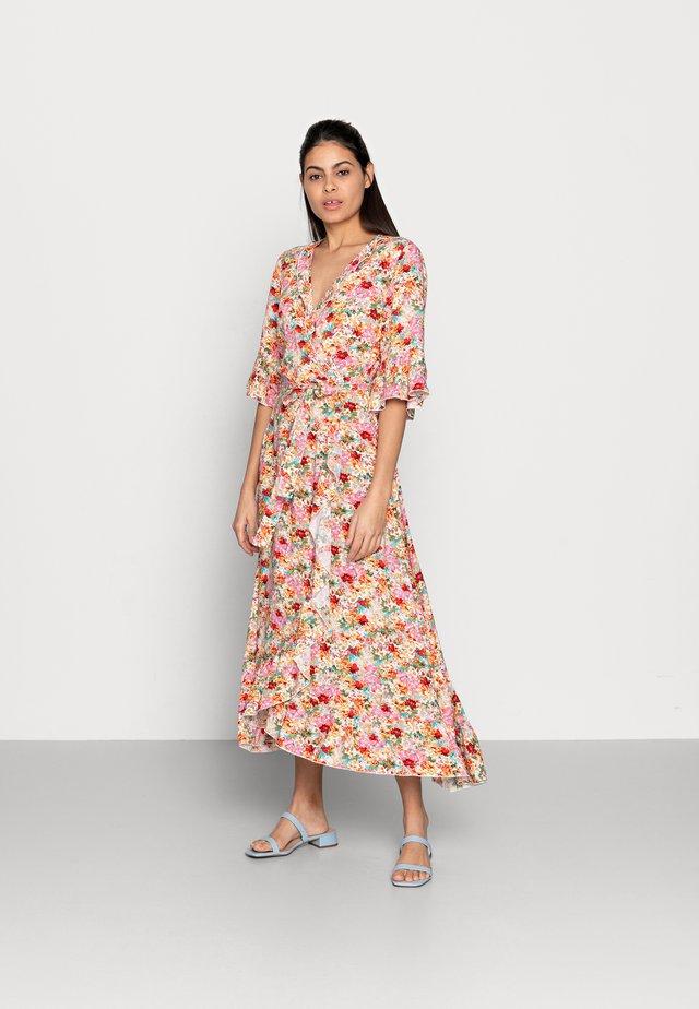 DRESS WRAP GARDEN FLOWER - Vestito lungo - multi-coloured