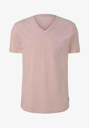 MELIERTES MIT BRUSTTASCHE - T-shirt basique - soft peach skin