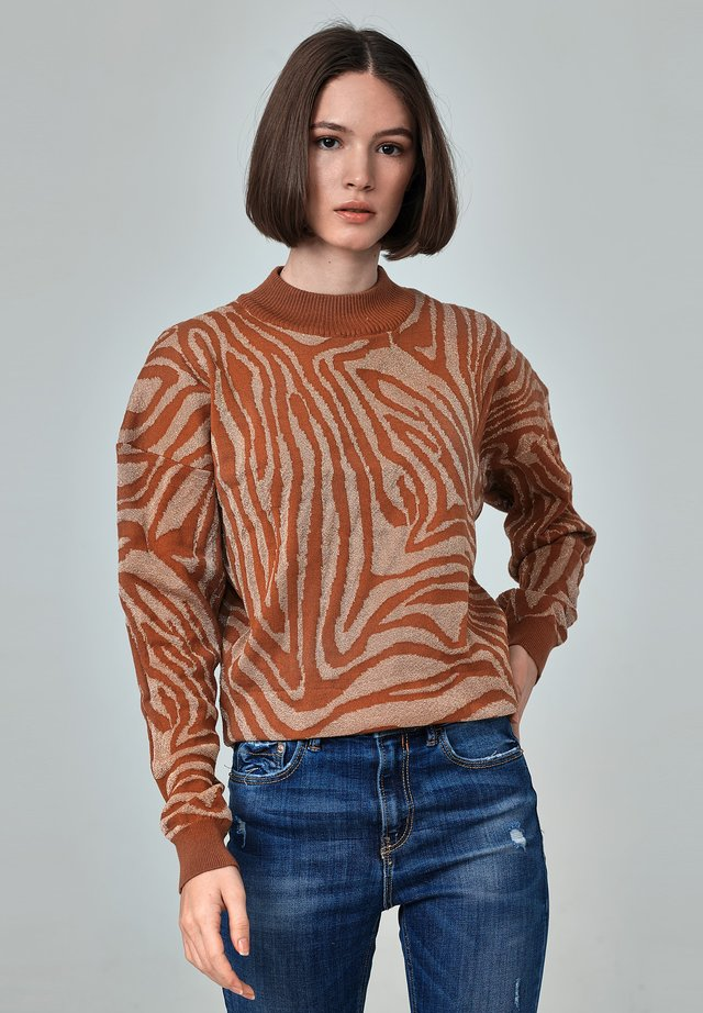 NATALIA - Stickad tröja - printed