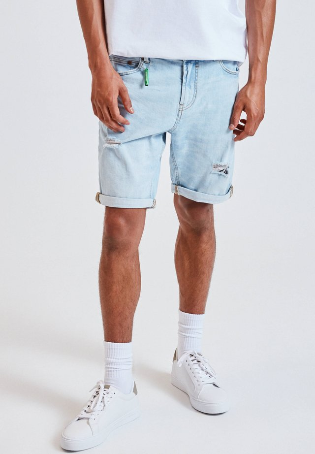 Shorts di jeans - blue-grey