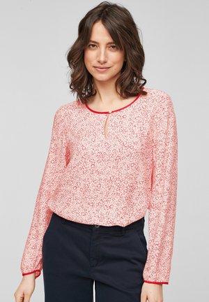 Long sleeved top - light blush aop