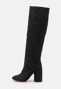 CRUSHED STIVALE TUBO STROPICCIATO - Boots med høye hæler - black