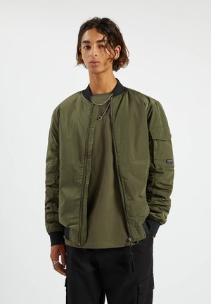 BASIC - Bomber Jacket - khaki
