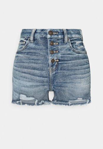CURVY HI RISE SHORTIE - Jeansshorts - medium tinted indigo