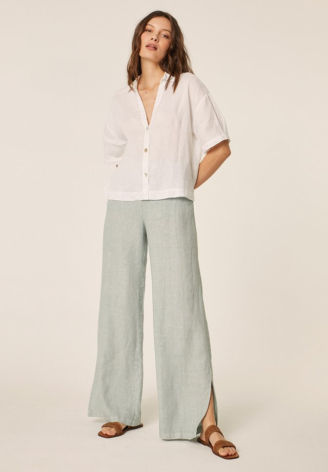 Overhemdblouse - blanco