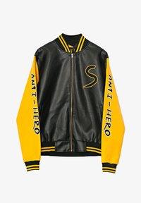 ANTI-HERO VARSITY - Faux leather jacket - metallic black