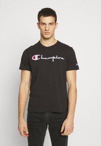 Champion Reverse Weave - Print T-shirt - black - 0