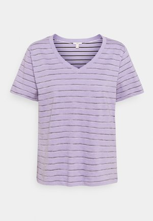 STRIPE - Print T-shirt - purple/purple
